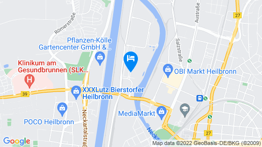 HARBR. hotel Heilbronn Map