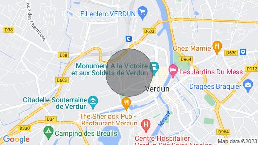 ?? Ideales Studio für Einen Besuch in Verdun Map