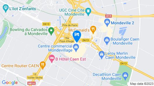 ibis Budget Caen Mondeville Map