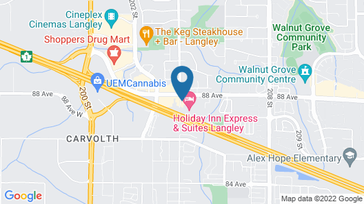 Holiday Inn Express & Suites Langley, an IHG Hotel Map