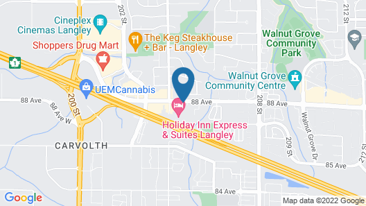 Langley Hwy Hotel Map