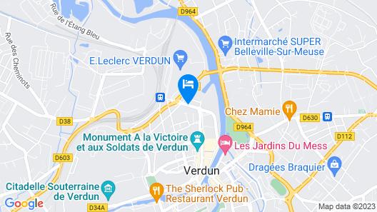 Hôtel Les Colombes Map