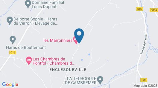 Domaine les Marronniers Map