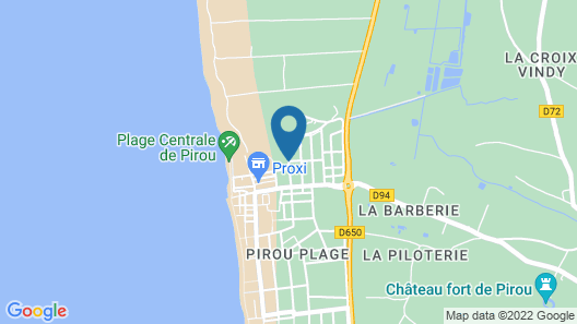 4 Bedroom Accommodation in Pirou-plage Map