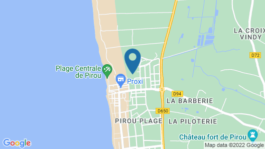 3 Bedroom Accommodation in Pirou-plage Map