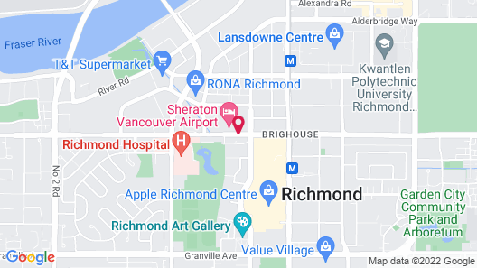 Sheraton Vancouver Airport Hotel Map