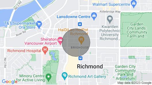 Convenient 2bdr 2BA Richmond Centre Condominium Map