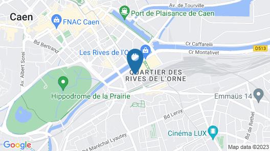 Campanile Caen Centre - Gare Map