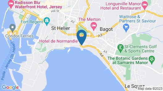 Hotel De Normandie Map