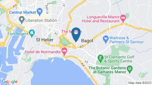Merton Hotel Map