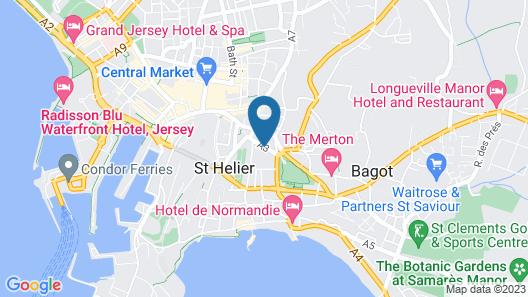 Norfolk Hotel Map