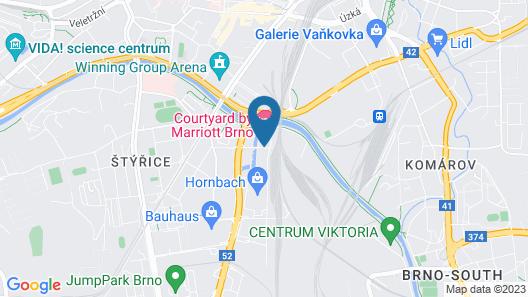 Courtyard by Marriott Brno Map