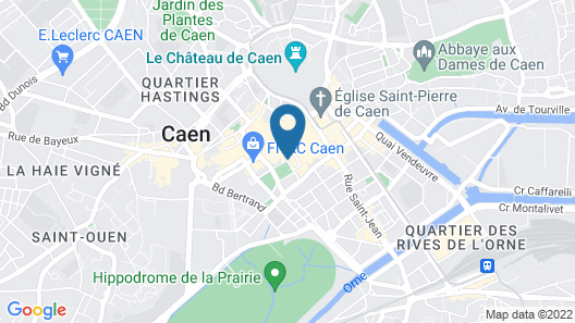 Best Western Royal Hotel Caen Map