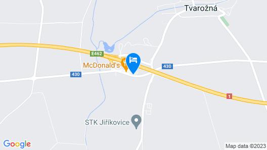 Motorest a Motel Rohlenka Austerlitz Map