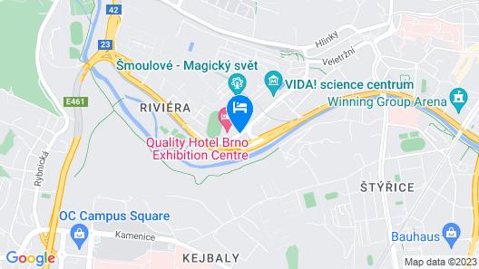Quality Hotel Brno Exhibition Centre Map