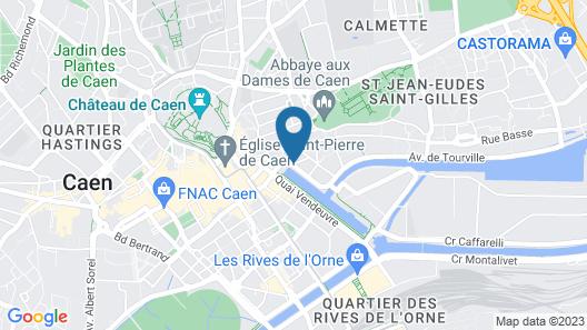 Mercure Caen Centre Port de Plaisance Map