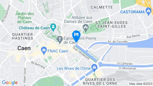 ibis Caen Centre Map