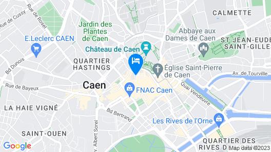 Hôtel des Quatrans Map