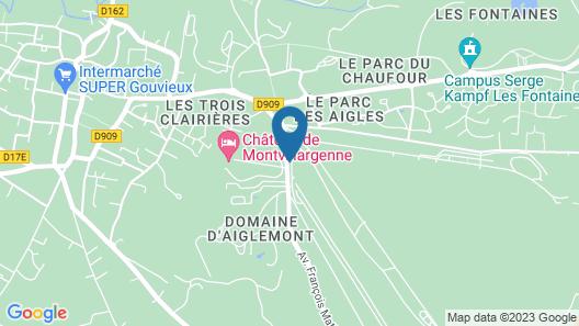 Hôtel Château de Montvillargenne Map