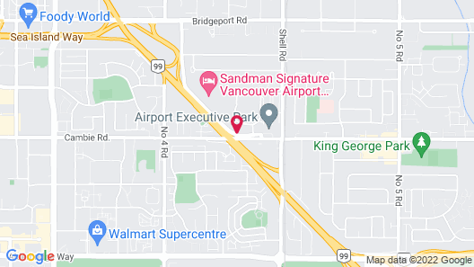 Accent Inns Vancouver Airport Map