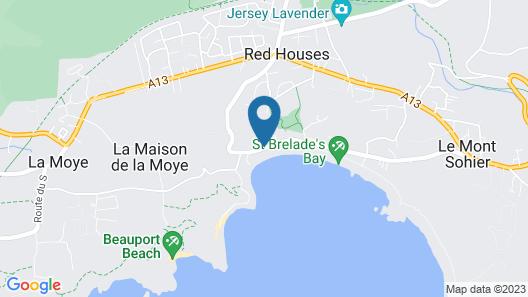 St Brelades Bay Hotel Map