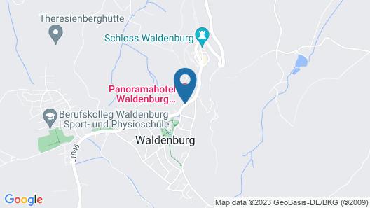 Panoramahotel Waldenburg Map