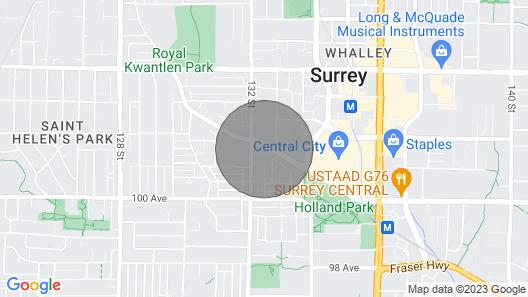 Surrey Center Cozy Condo Map