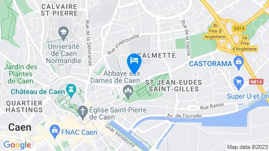 Séjours et Affaires Caen Le Clos Beaumois Map