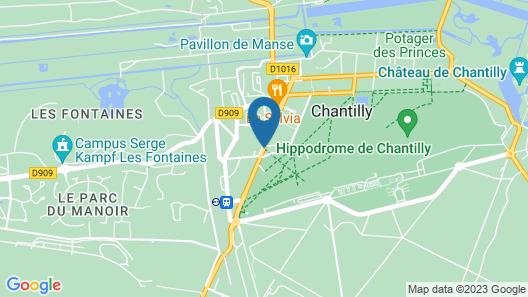 Best Western Plus Hotel Du Parc Chantilly Map