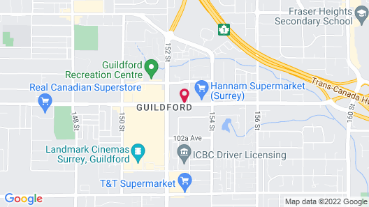 Sheraton Vancouver Guildford Hotel Map