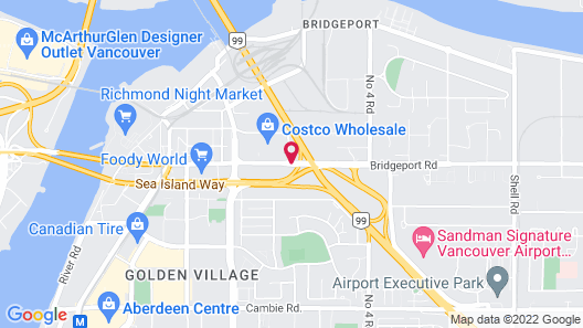 Holiday Inn Express Vancouver Airport Richmond Map