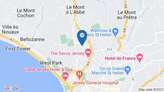 The Uplands Serviced Apartments Map