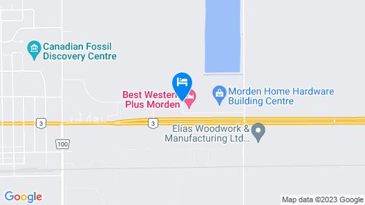 Best Western Plus Morden Map