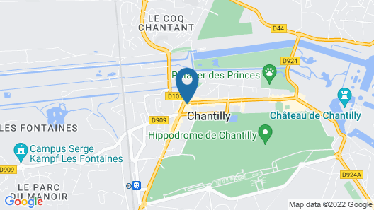 Hôtel Le Chantilly Map