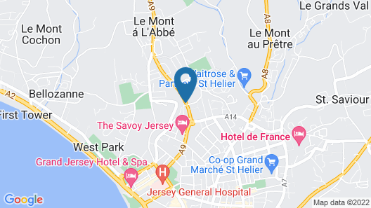 The Inn Boutique - Jersey Map
