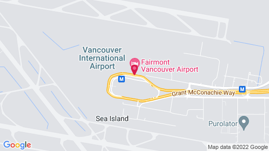 Fairmont Vancouver Airport In-Terminal Hotel Map