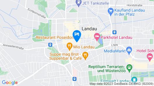 Studioapartment im Herzen Landaus Map