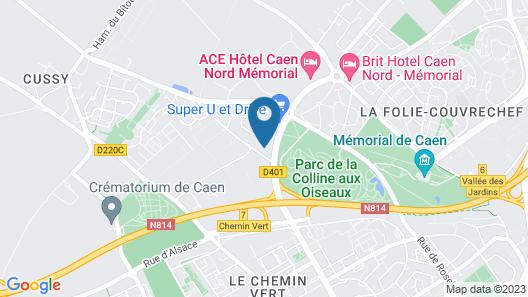 ibis budget Caen Nord Mémorial Map
