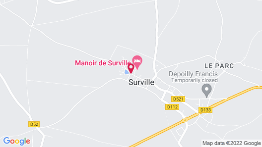 Manoir de Surville Map