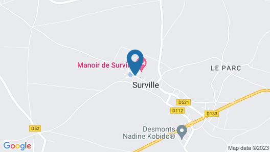 Manoir de Surville Map