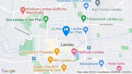 Exklusive Gästezimmer Landau Map