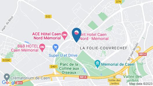 Brit Hotel Caen Nord - Mémorial Map