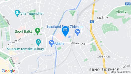 Hotel Lazaretní Map
