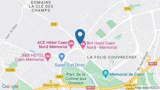 Hotel Crocus Caen Memorial Map