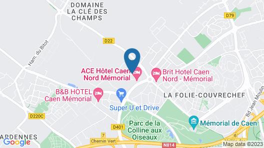 ACE Hôtel Caen Nord Mémorial Map