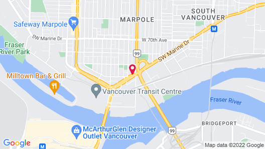 Coast Vancouver Airport Hotel Map