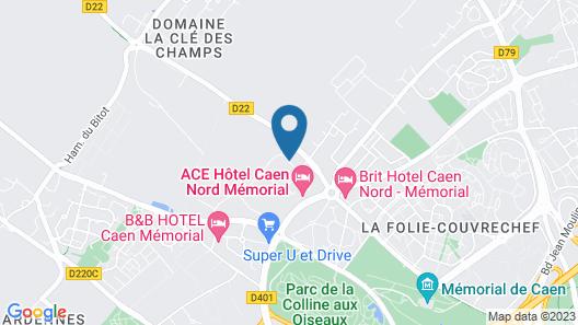 Hôtel Première Classe Caen Nord - Mémorial Map
