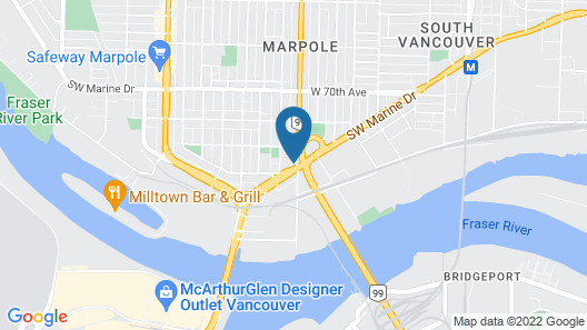 Hotel West, Vancouver Airport Map