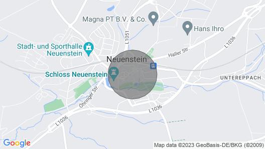 Zauberhafte, Kleine Stadtwohnung in Neuenstein - Shabby Chic in Seiner Reinform! Map