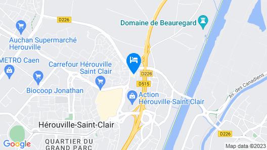 Kyriad Caen Nord - Hérouville Saint Clair Map
